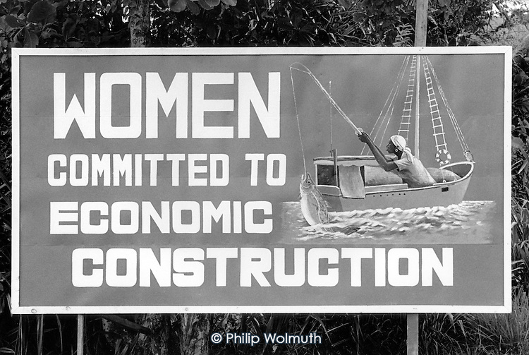 One of many hand-painted roadside hoardings promoting the 1979 New Jewel Movement revolution.