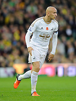 Jonjo Shelvey of Swansea City during the Barclays Premier League match between Norwich City and Swansea City played at Carrow Road, Norwich on November 7th 2015