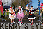 Marlyn O'Shea, Colin Aherne and Caroline Mc Connell at the Valentines 10 mile road race in Tralee on Saturday.