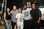 "Lauren Boyd, Gregory Treco, Sasha Hollinger, Donald Webber Jr., J. Quinton Johnson before The Rockefeller Foundation and The Gilder Lehrman Institute of American History sponsored High School student #EduHam matinee performance of ""Hamilton"" at the Richard Rodgers Theatre on May 24, 2017 in New York City."