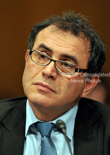 Washington, DC - October 30, 2008 -- Nouriel Roubini, Professor of Economics and International Business, New York University, testifies before the Joint Economic Committee hearing on ?Faltering Economic Growth and the Need for Economic Stimulus? in Washington, DC on Thursday, October 30, 2008..Credit: Ron Sachs / CNP