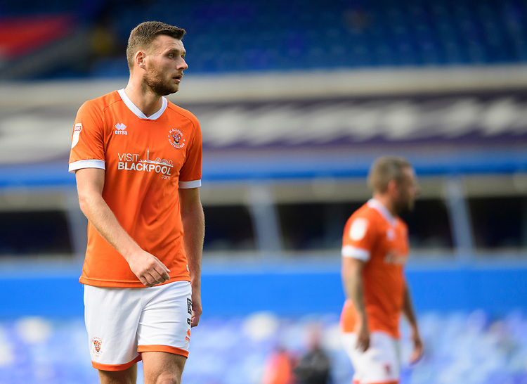 Blackpool's Ryan Edwards<br /> <br /> Photographer Chris Vaughan/CameraSport<br /> <br /> The EFL Sky Bet League One - Coventry City v Blackpool - Saturday 7th September 2019 - St Andrew's - Birmingham<br /> <br /> World Copyright © 2019 CameraSport. All rights reserved. 43 Linden Ave. Countesthorpe. Leicester. England. LE8 5PG - Tel: +44 (0) 116 277 4147 - admin@camerasport.com - www.camerasport.com