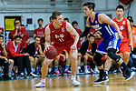 Dominic Robert Gilbert #11 of SCAA Men's Basketball Team (L) in action against Xu Adam #16 of Eastern Long Lions (R) during the Final of Hong Kong Basketball League 2018 match between SCAA v Eastern Long Lions on August 10, 2018 in Hong Kong, Hong Kong. Photo by Marcio Rodrigo Machado/Power Sport Images