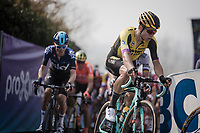 Wout Van Aert (BEL/Jumbo-Visma) on top of the Paterberg<br /> <br /> 103rd Ronde van Vlaanderen 2019<br /> One day race from Antwerp to Oudenaarde (BEL/270km)<br /> <br /> ©kramon