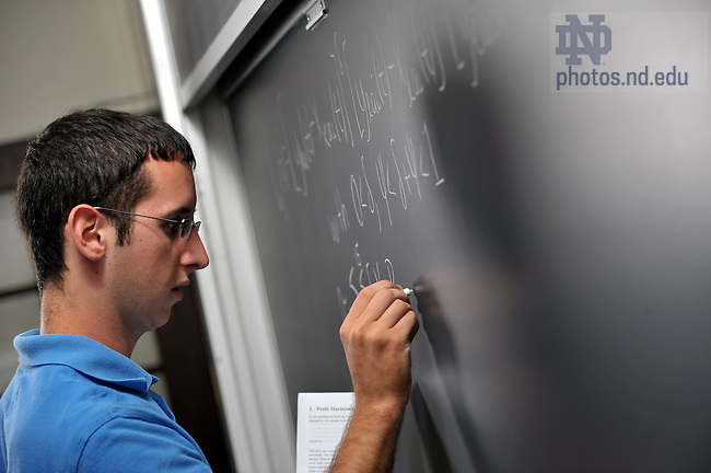 Undergraduate math student, for College of Science...Photo by Matt Cashore/University of Notre Dame