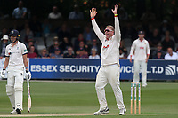 Simon Harmer of Essex appeals for the wicket of Ben Coad during Essex CCC vs Yorkshire CCC, Specsavers County Championship Division 1 Cricket at The Cloudfm County Ground on 7th July 2019