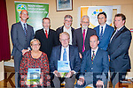 Michael O'Regan launched the Rural Vibrancy in North West Europe- The Case for South Kerry report for The SKDP and Rural Alliances in Listry Community hall on Frida night front row l-Sheila Casey SKDPN Chairperson, Michael O'Regan, Brendan O'Keeffe report author. back row: John Breen, SEan Kelly MEP, Tony Darmody, Frank Lewis, Noel Spring