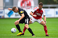 Fleetwood Town's Ryan Taylor competes with Shrewsbury Town's Greg Docherty<br /> <br /> Photographer Richard Martin-Roberts/CameraSport<br /> <br /> The EFL Sky Bet League One - Fleetwood Town v Shrewsbury Town - Saturday 13th October 2018 - Highbury Stadium - Fleetwood<br /> <br /> World Copyright &copy; 2018 CameraSport. All rights reserved. 43 Linden Ave. Countesthorpe. Leicester. England. LE8 5PG - Tel: +44 (0) 116 277 4147 - admin@camerasport.com - www.camerasport.com