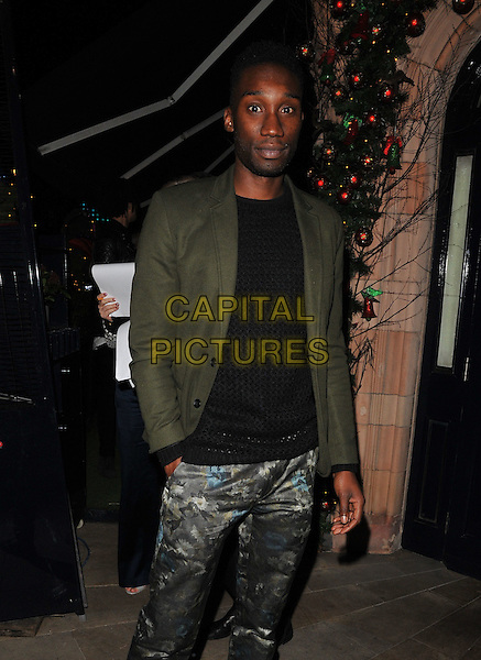 Nathan Stewart-Jarrett attends the LOVE magazine Christmas party, George Club, Mount Street, London, UK, on Friday 18 December 2015.<br /> CAP/CAN<br /> &copy;Can Nguyen/Capital Pictures