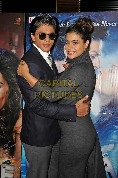 LONDON, ENGLAND - DECEMBER 1:  Shah Rukh Khan and Kajol attending the 'Dilwale' photocall at Montcalm Hotel on December 1, 2015 in London, England.<br /> CAP/MAR<br /> &copy;MAR/Capital Pictures