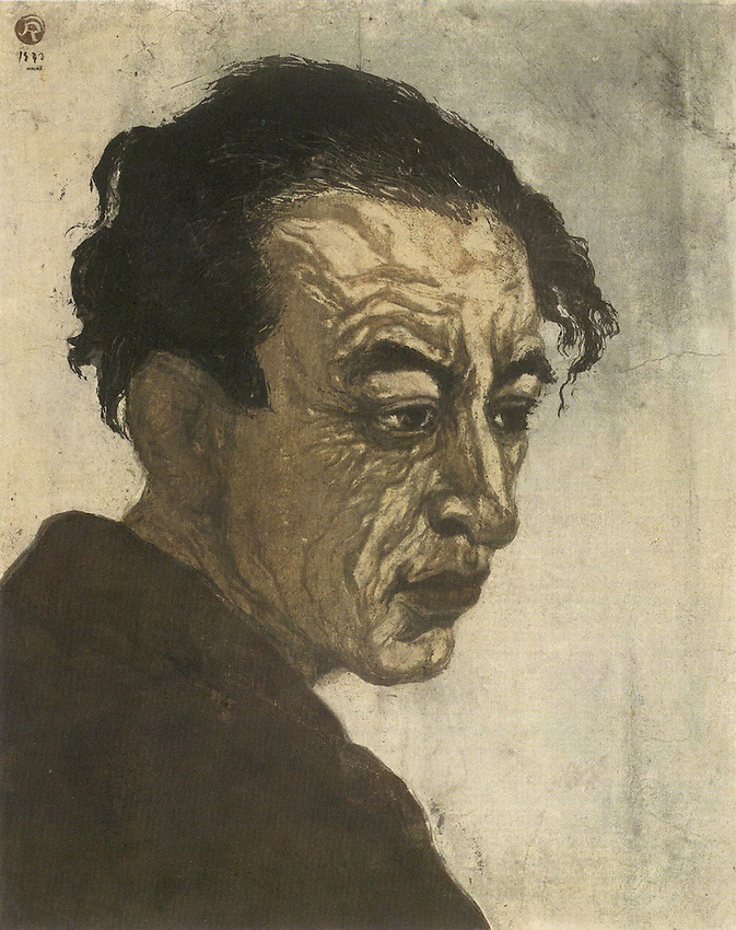 "Sakutaro Hagiwara, 1 November 1886 - 11 May 1942) was a Japanese writer of free-style verse, active in the Taisho and early Showa periods of Japan. He liberated Japanese free verse from the grip of traditional rules, and he is considered the ""father of modern colloquial poetry in Japan"". Woodblock print by artist Onchi Kashira."
