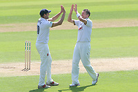 Peter Siddle of Essex celebrates taking the wicket of Steven Patterson during Essex CCC vs Yorkshire CCC, Specsavers County Championship Division 1 Cricket at The Cloudfm County Ground on 4th May 2018