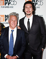 NEW YORK, NY October 01, 2017  Dustin Hoffman, Adam Driver attend 55th New York Film Festival premiere of The Meyerowitz Stories at Alice Tully Hall Lincoln Center in New York October 01,  2017.<br /> CAP/MPI/RW<br /> &copy;RW/MPI/Capital Pictures