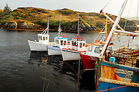 Fishing boats at dock in Bunbeg, County Donegal, Republic of Ireland
