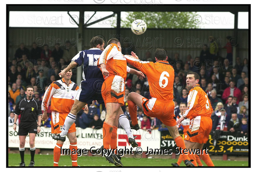 29th April 200         Copyright Pic : James Stewart .Ref :                           .File Name : stewart02-falkirk v inverness                        .FALKIRK'S JAMIE MCQUILKEN HEDS HOME FALKIRK'S FIRST GOAL.... .Payments to :-.James Stewart Photo Agency, Stewart House, Stewart Road, Falkirk. FK2 7AS      Vat Reg No. 607 6932 25.Office : +44 (0) 1324 630007        Mobile : 07721 416997.Fax     : +44 (0) 1324 630007.E-mail : jim@jspa.co.uk.If you require further information then contact Jim Stewart on any of the numbers above.........