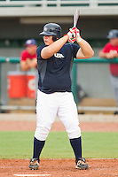 Dan Vogelbach #59 of Team Blue at bat against Team Red during the USA Baseball 18U National Team Trials at the USA Baseball National Training Center on June 30, 2010, in Cary, North Carolina.  Photo by Brian Westerholt / Four Seam Images