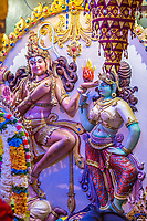 Hindu Deity, Sri Maha Mariamman Temple, George Town, Penang, Malaysia.