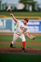 Great Lakes Loons pitcher Zach Willeman (52) during a Midwest League game against the Clinton LumberKings on July 19, 2019 at Dow Diamond in Midland, Michigan.  Clinton defeated Great Lakes 3-2.  (Mike Janes/Four Seam Images)