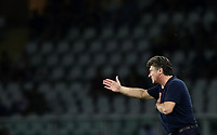 Calcio, Serie A: Torino - Sassuolo, Olympic stadium Grande Torino, August 25, 2019.<br /> Torino's coach Walter Mazzarri speaks to his players during the Italian Serie A football match between Torino and Sassuolo at Olympic stadium Grande Torino, August 25, 2019.<br /> UPDATE IMAGES PRESS/Isabella Bonotto