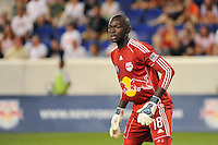 New York Red Bulls goalkeeper Bouna Coundoul (18). The New York Red Bulls defeated the San Jose Earthquakes 2-0 during a Major League Soccer (MLS) match at Red Bull Arena in Harrison, NJ, on August 28, 2010.