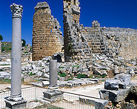 Turkey, Province Antalya, ancien town of Perge: beside Side the most important town in Pamphylia