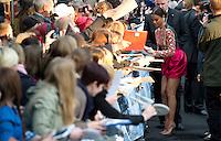 Berlin,Montag (29.04.13), Schauspielerin Zoe Saldana bei der Deutschlandpremiere des Films The Darkness aus der Star-Trek-Reihe. Foto: Michael Gottschalk/CommonLens