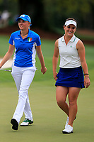 Caterina Don (ITA) and Haylee Harford (USA) during the final  round at the Augusta National Womans Amateur 2019, Augusta National, Augusta, Georgia, USA. 06/04/2019.<br /> Picture Fran Caffrey / Golffile.ie<br /> <br /> All photo usage must carry mandatory copyright credit (&copy; Golffile | Fran Caffrey)