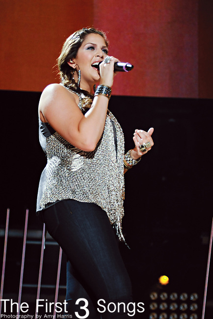 Hillary Scott of Lady Antebellum performs at LP Field during the 2011 CMA Music Festival on June 10, 2011 in Nashville, Tennessee.