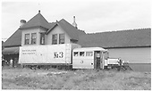 Goose #3 at Ridgway depot.<br /> RGS  Ridgway, CO  Taken by Maxwell, John W. - 7/13/1946
