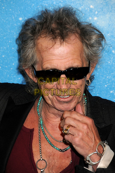 KEITH RICHARDS - ROLLING STONES .Spike TV's Scream 2009 held at the Greek Theatre, Los Angeles, California, USA..October 17th, 2009.headshot portrait black red beads hand ring bracelet beaded turquoise sunglasses shades .CAP/ADM/BP.©Byron Purvis/AdMedia/Capital Pictures.
