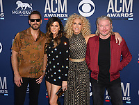 LAS VEGAS, NEVADA - APRIL 07: Little Big Town, Karen Fairchild, Kimberly Schlapman, Phillip Sweet, and Jimi Westbrook attends the 54th Academy Of Country Music Awards at MGM Grand Hotel &amp; Casino on April 07, 2019 in Las Vegas, Nevada. <br /> CAP/MPIIS<br /> &copy;MPIIS/Capital Pictures