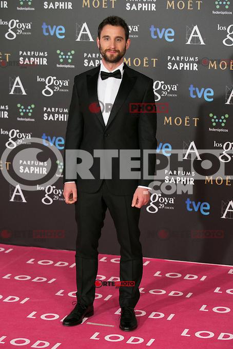 Dani Rovira attend the 2015 Goya Awards at Auditorium Hotel, Madrid,  Spain. February 07, 2015.(ALTERPHOTOS/)Carlos Dafonte) /NORTEphoto.com