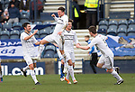 Raith Rovers v St Johnstone....08.03.14    Scottish Cup Quarter Final<br /> Joe Cardle celebrates his goal<br /> Picture by Graeme Hart.<br /> Copyright Perthshire Picture Agency<br /> Tel: 01738 623350  Mobile: 07990 594431