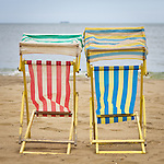 Empty deck-chairs on the Isle of Wight