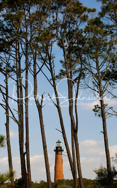 The Currituck Beach Lighthouse, in Corolla, NC, is one of the few lighthouses visitors can climb to the top. .