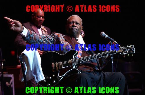 BOCA RATON, FL - DECEMBER 31:  BB King performs at the Mizner Park Amphitheater on April 30, 2004 in Boca Raton Florida.  (Photo by Larry Marano (C) 2004
