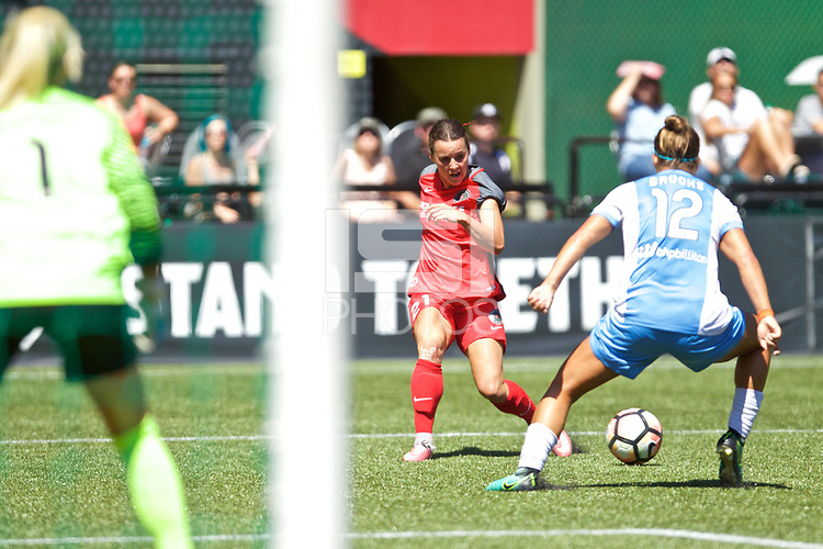 Portland, OR - Saturday August 05, 2017: Hayley Raso during a regular season National Women's Soccer League (NWSL) match between the Portland Thorns FC and the Houston Dash at Providence Park.