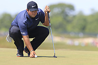 Patrick Reed (USA) on the 8th green during Saturday's Round 3 of the 118th U.S. Open Championship 2018, held at Shinnecock Hills Club, Southampton, New Jersey, USA. 16th June 2018.<br /> Picture: Eoin Clarke | Golffile<br /> <br /> <br /> All photos usage must carry mandatory copyright credit (&copy; Golffile | Eoin Clarke)