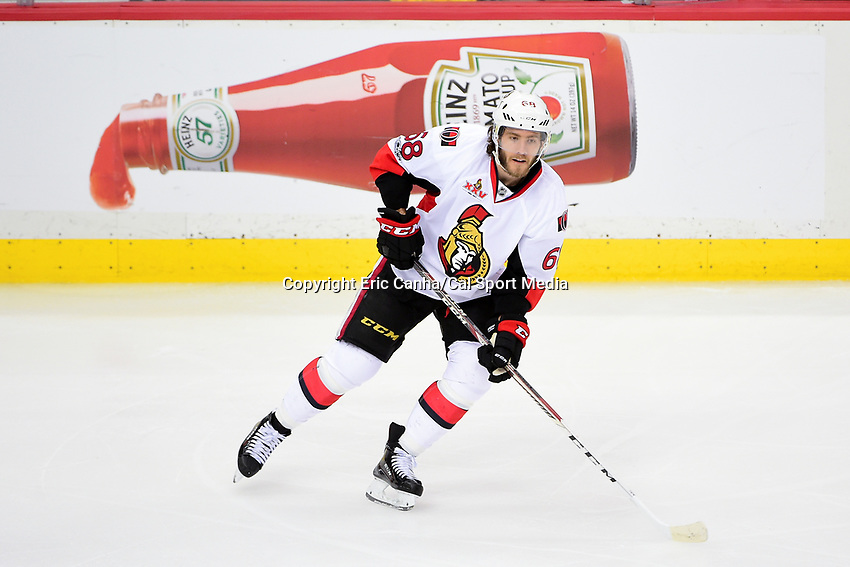 May 21, 2017: Ottawa Senators left wing Mike Hoffman (68) in game action during game five of the National Hockey League Eastern Conference Finals between the Ottawa Senators and the Pittsburgh Penguins, held at PPG Paints Arena, in Pittsburgh, PA. Pittsburgh shuts out Ottawa 7-0 to lead the series 3-2.  Eric Canha/CSM