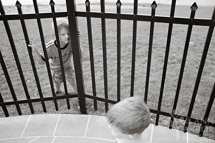 Photographs of the Jensen boys - Davis, 6, and Reid, 2,  taken in south Fargo, N.D., on Sunday, Aug. 8, 2010. Parents are Kirsten and Travis Jensen of Fargo. Photography by Ann Arbor Miller