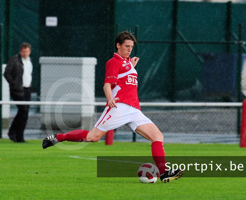 Supercup seizoen 2011 - 2012 ; Kampioen Standard Femina tegen Bekerwinnaar Waasland Beveren Sinaai Girls : Aline Zeler.foto DAVID CATRY / Vrouwenteam.be