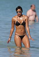 JANUARY 28 2014<br /> JULISSA BERMUDEZ SEXY BLACK BIKINI IN MIAMI BEACH<br /> <br /> KDNPIX/Nortehoto