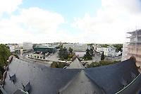 Blick vom Glockenturm auf Darmstadt und das Darmstadtium