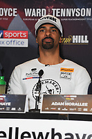 David Haye is pictured at the Undercard and Main Event press conference for Saturday May 5th's boxing at the 02 arena in London. May 3, 2018. Credit: Matrix/MediaPunch ***FOR USA ONLY***<br />