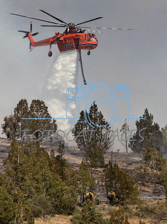Firefighters battle multiple brush fires caused by lightning in south Douglas County Friday afternoon, June 1, 2012. Houses in the Ray May subdivision off Highway 395 south of Gardnerville were initially threatened. .Photo by Cathleen Allison
