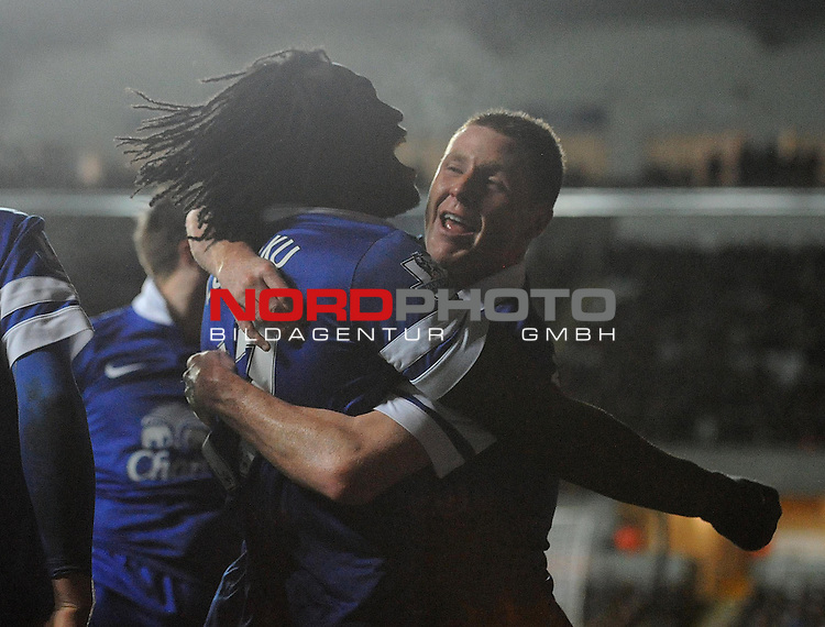 Everton celebrate their goal -    22/12/2013 - SPORT - FOOTBALL - Liberty Stadium - Swansea - Swansea City v Everton - Barclays Premier League<br /> Foto nph / Meredith<br /> <br /> ***** OUT OF UK *****