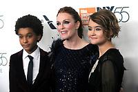 Jaden Michael, Julianne Moore und Millicent Simmonds bei der Premiere von 'Wonderstruck' auf dem 55. New York Film Festival in der Alice Tully Hall. New York, 07.10.2017