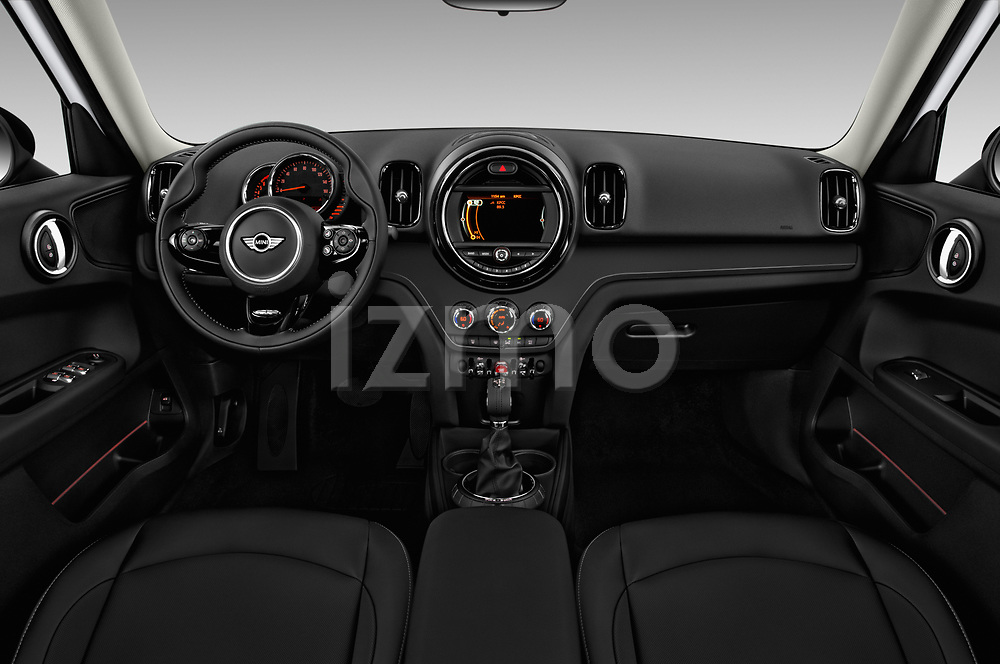 Stock photo of straight dashboard view of 2017 MINI Countryman 5-Door 5 Door Hatchback Dashboard