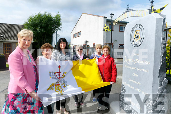 Announcing  Austin Stacks are hosting the Corpus Christi procession  from St. Brendan's Church after the 12.30 Mass via Connolly Park to the Club on Sunday Pictured l-r Mairéad Fernane, Vice Chairperson, Austin Stack Club, Aneta Costello, Marion Clifford, Mary Heaslip, Nora O'Connor,  and Lynn Lynch, Residents' associations Connolly Park