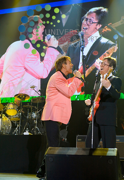 Congratulations to Cliff Richard and the Shadows who celebrate 50 years in the business with a gig at the Glasgow SECC on the 9th October 2009. Just days before his 69th birthday, Cliff shows why he has been around for 6 decades and continues to entertain both young and old...Picture: Peter Kaminski/Universal News and Sport (Scotland)